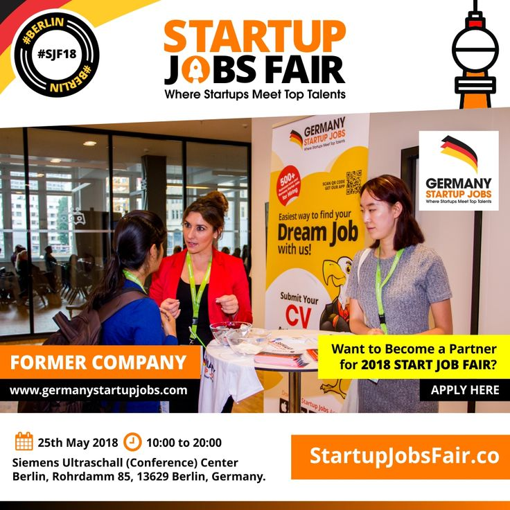 Startup Jobs Fair - 2018 Former Company Germany Startup Jobs ...