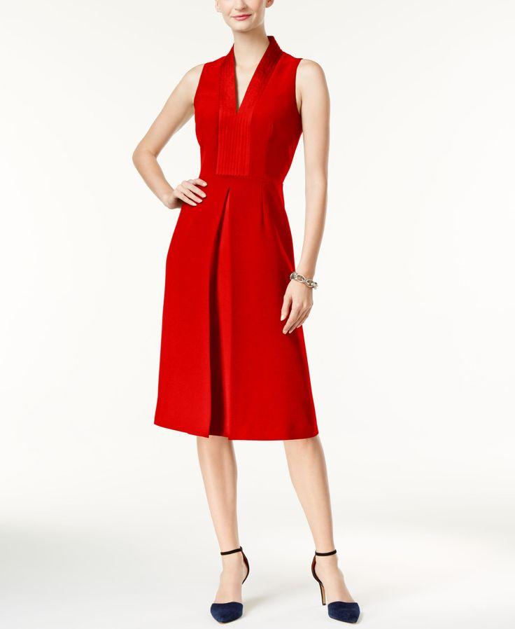 Anne Klein Satin-Trim Dress