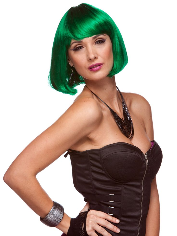 Who is Cindy and why does she have green hair? Nobody knows but this wig is available in a very large variety of colors. Starting from the fashionable blacks, browns and blondes all the way to costume greens, pinks and even orange! #cindy #wig #costume #halloween