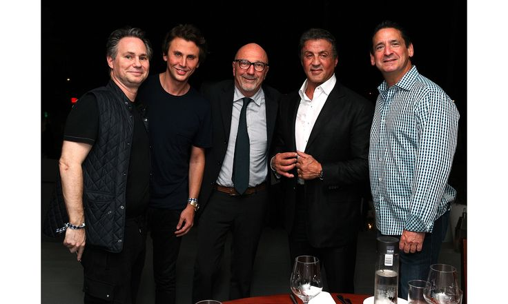 Celebrities flocked to DuJour's annual Art Basel Miami kickoff party at the Delano presented by Blackberry PRIV and 50 Bleu. Pictured here: Jason Binn, Jonathan Cheban, Lorenzo Soria, Sylvester Stallone, Philip Goldfarb.