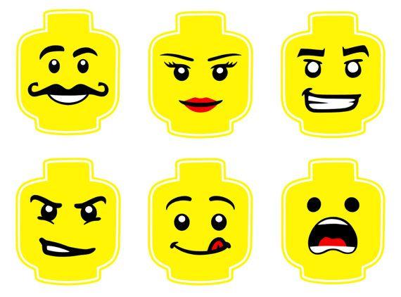 Pack de 6 designs Lego au format A4 pdf sur fond blanc. Téléchargement immédiat…