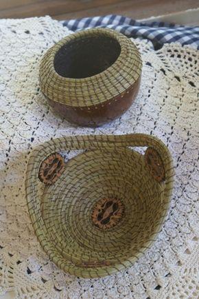Weave Pine Needles into Baskets   Pine needle basket weaving