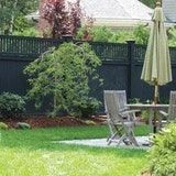 When it comes to black fences, they're generally made of wrought iron or painted steel