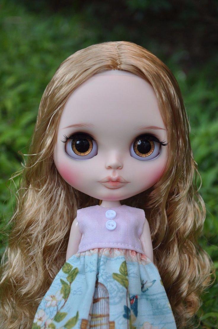 Custom Factory Blythe - Curly tmavě blond vlasy   eBay