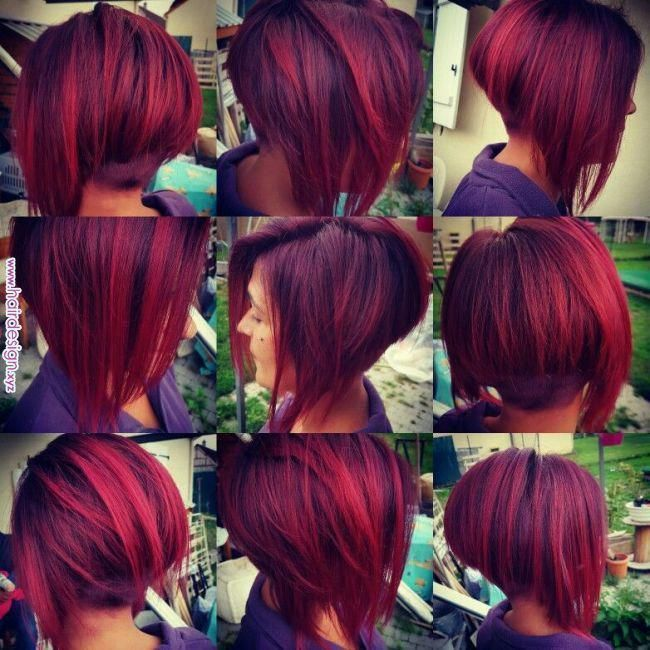 Couleur Framboise Păr In 2019 Pinterest Hair Hairstyles And Dark Red Hair Couleur Framboise Hairsty In 2020 Red Ombre Hair Short Red Hair Cool Hair Color