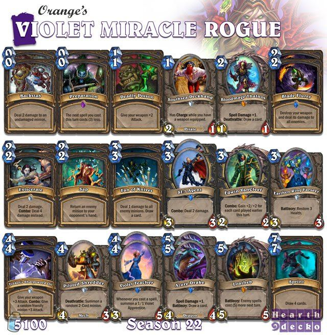 #Hearthstone Oranges Miracle Rogue | S22