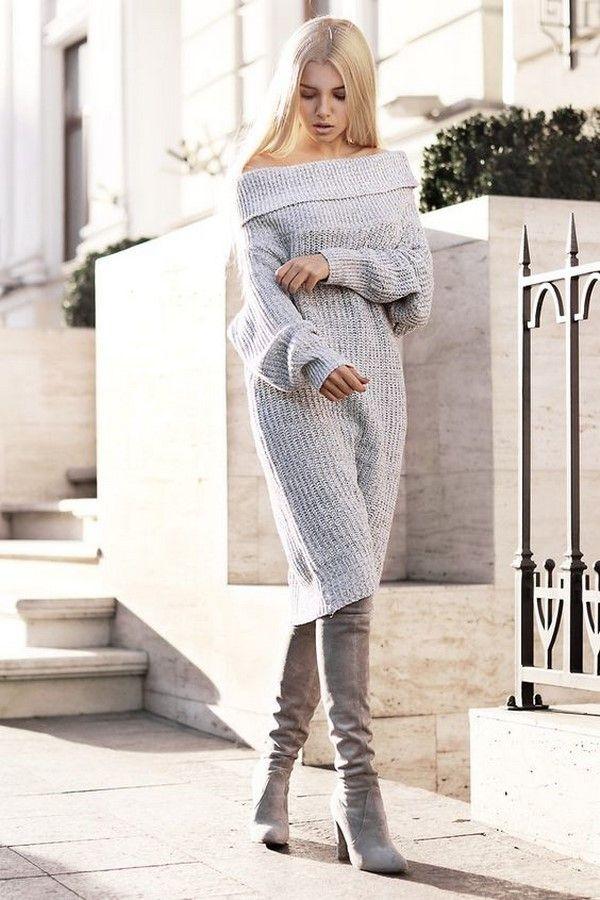 8ae2a11a11d5 Модные вязаные платья 2018-2019, трендовые трикотажные платья, фото-новинки