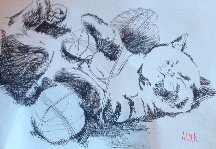 Sleeping Cat - Alma gallagher