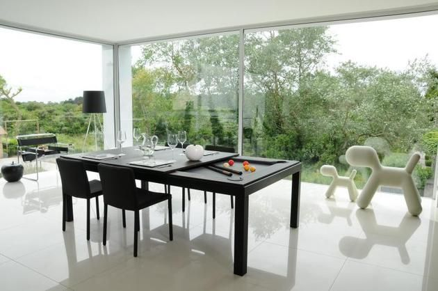 Dining and Pool Table Combination: Fusion Tables | Pink and Milk