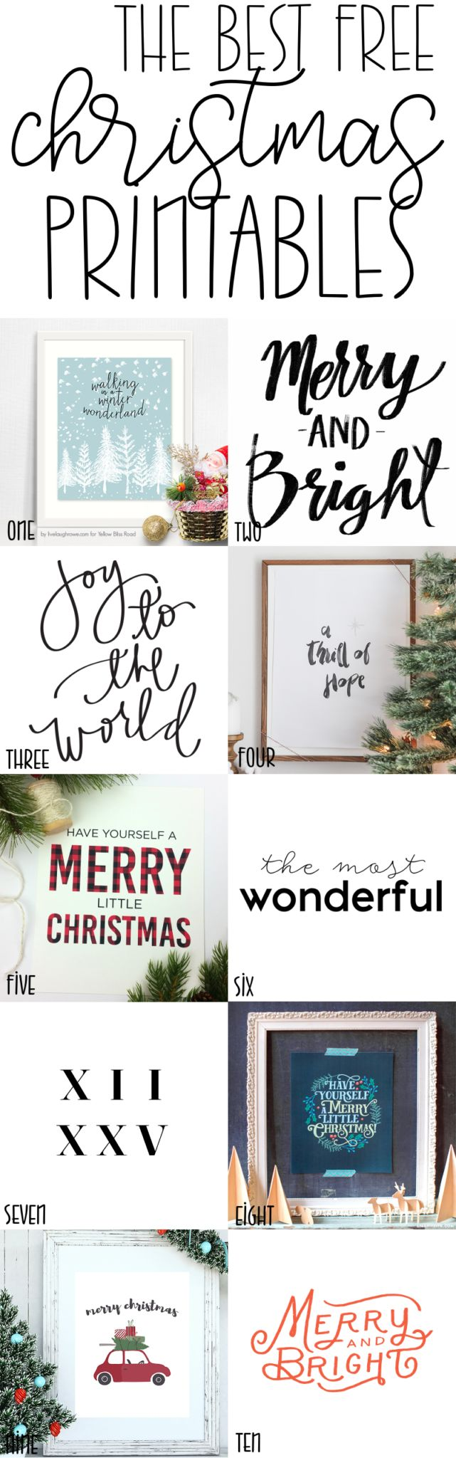 I've rounded up the 10 best free Christmas prints for you; these will make a great (and affordable) addition to your holiday décor!