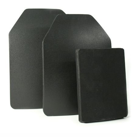 Manufactured using a specialized high-density ceramic core backed with a composite of layered aramid fiber, and finished in a black nylon anti-spall cover, this ceramic/composite insert plate is used for upgrading body armor to defeat high velocity rifle threats. Monocoque construction allows this high performance product to have a comfortable fit. Five year warranty.