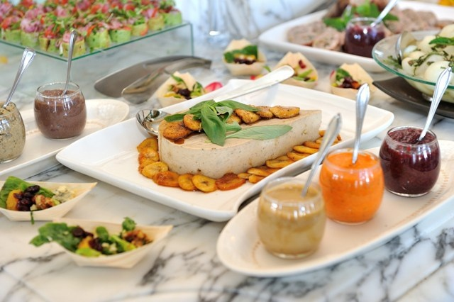 A beautiful spread of treats at The Table Bay Hotel, Cape Town.