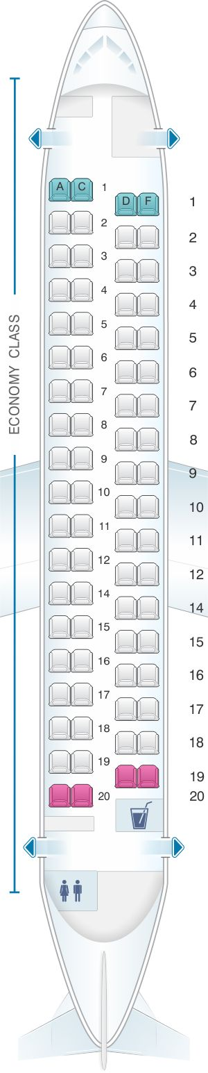 Seat Map Iberia Regional – Air Nostrum ATR 72 600
