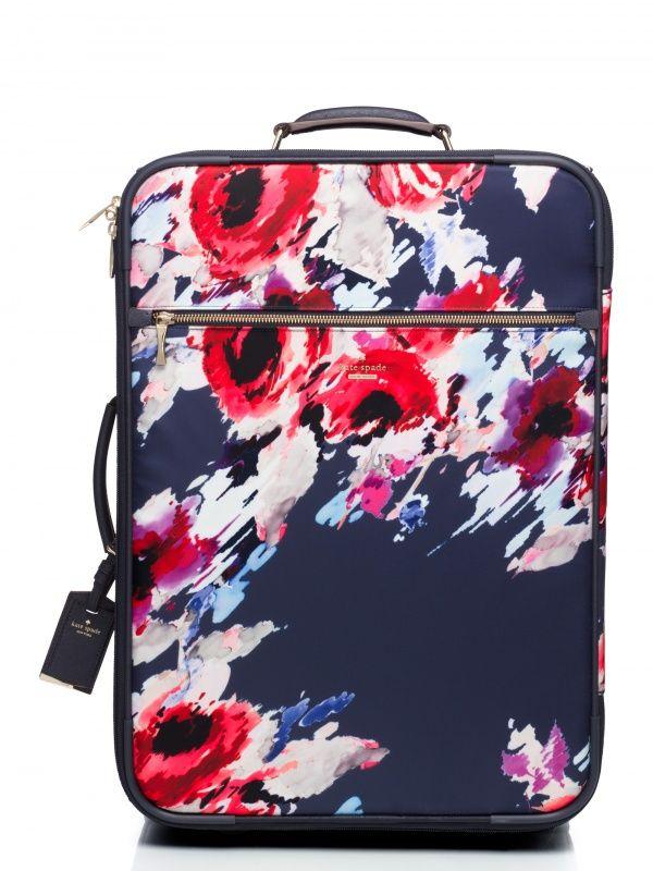 Kate Spade floral luggage