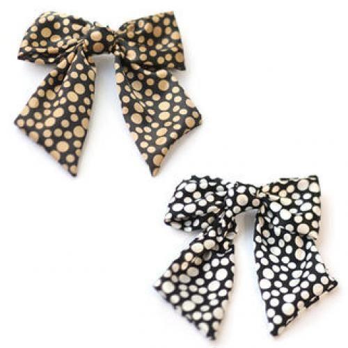 Polka-Dot Bow Hair Pin