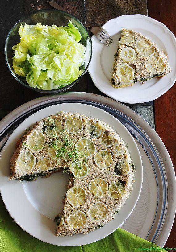 Tarta de atún y espinacas / Cytrynowa tarta z tuńczykiem i szpinakiem |