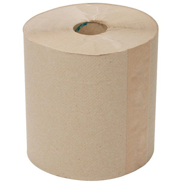 Lavex Janitorial 8 Natural Kraft Hardwound Paper Towel 800 Feet Roll 6 Case Commercial Paper Towel Dispenser Paper Towel Rolls Hand Washing Station