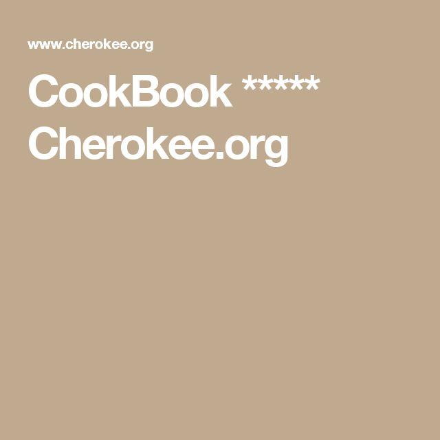 CookBook ***** Cherokee.org