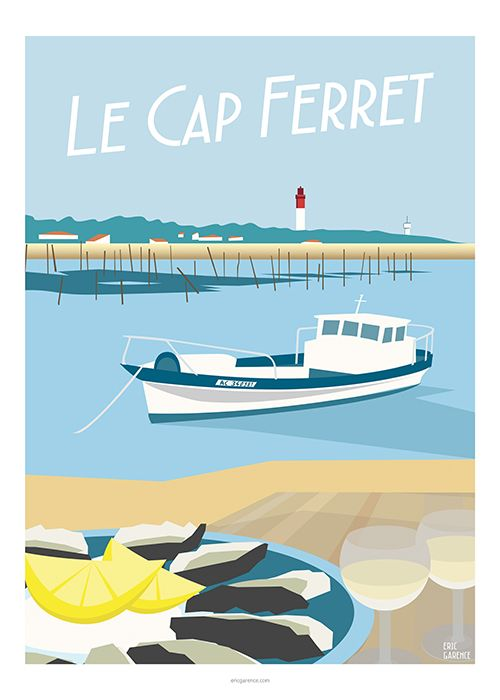 La Côte Atlantique est mise à l'honneur avec une nouvelle série d'affiches qui lui est dédiée. On y retrouve la simplicité branchée et chic du Cap Ferret (avec 2 verres Pessac-Léognan e…