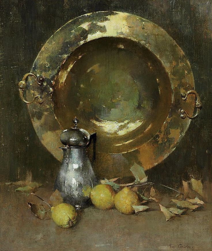Still Life by Emil Carlsen c.1918. Oil on canvas