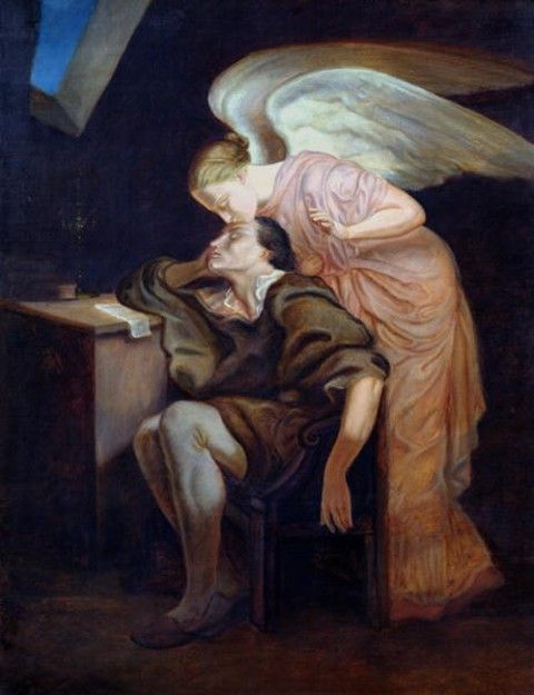 The Kiss of the Muse - Paul Cezanne. This is so literal it makes me smile.