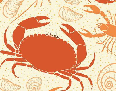 """Check out new work on my @Behance portfolio: """"Pattern Design: Lobsters and Crabs"""" http://be.net/gallery/63334617/Pattern-Design-Lobsters-and-Crabs"""