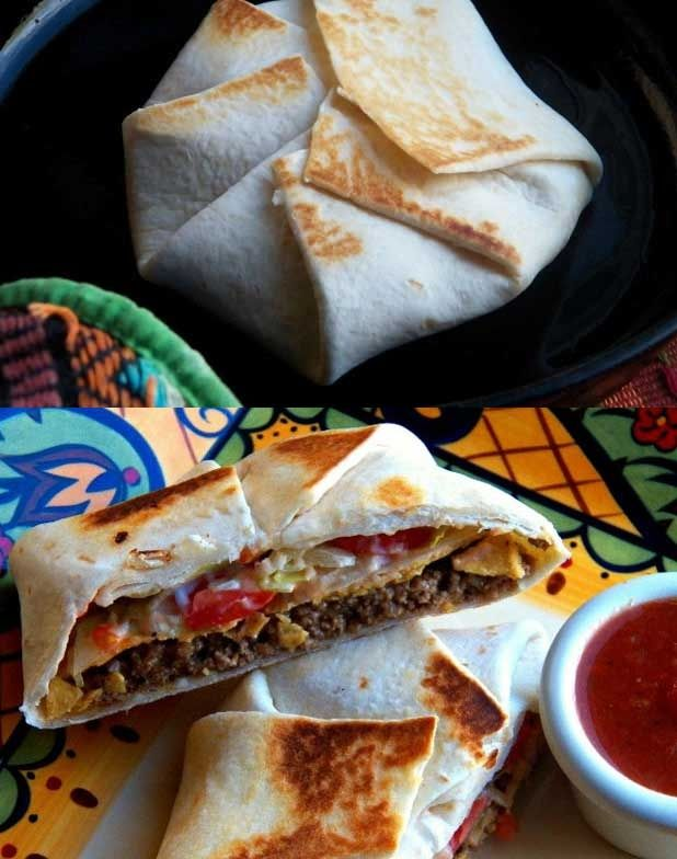 DIY: Homemade Taco Bell Crunchwrap Supreme Recipe (With step-by-step instructions!) #copycat #food #yummy #delicious
