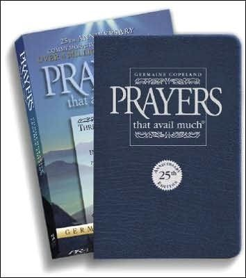 Prayers That Avail Much 25th Anniversary-Blue Bonded Leather