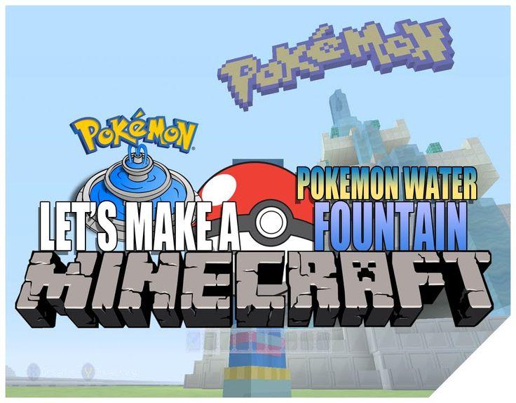 Minecraft How To Build A Cool Pokemon Water Fountain   Minecraft Pokemon...