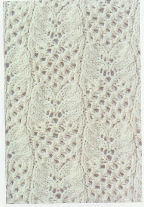 Lace Knitting Stitches Pinterest : Lace Knitting Stitch #62 Lace Knitting Stitches Lace Knitting Stitches ...