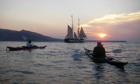 Kayaking Santorini, Greece and other great places to sea kayak