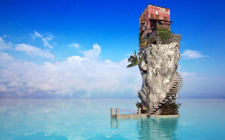 Ocean getaway: Stress Free, Dreams Home, Dreams Houses, Favorite Places, Cloud Wallpapers, Sea Houses, Relaxing Places, Desktop Wallpapers, Sweet Home