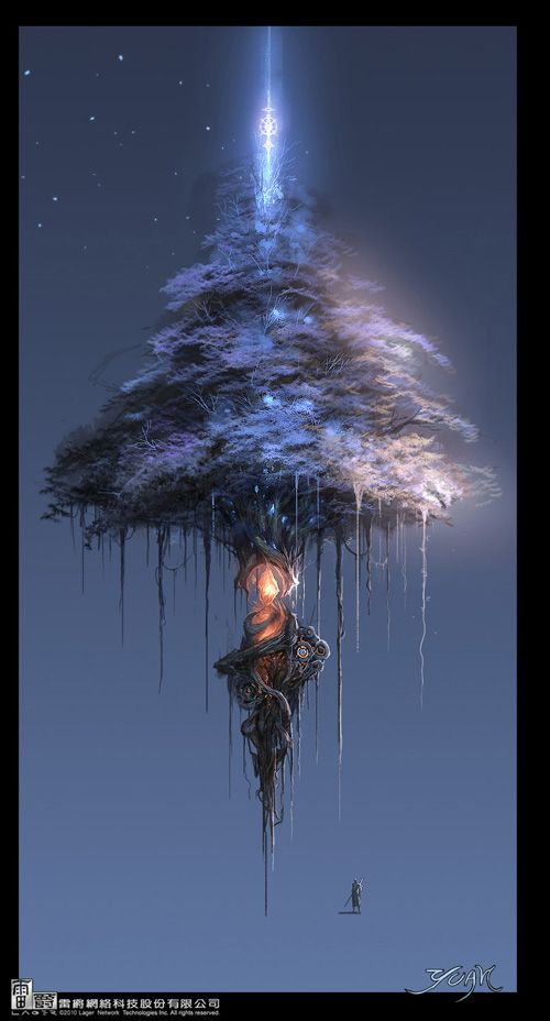 Cool floating tree, could be a set piece for my #fantasy and #spaceopera setting idea