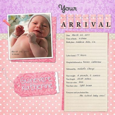 ... -- baby- scrapbook- pages-