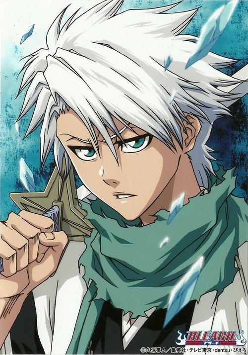 10th Squad Captain, Toushiro Hitsugaya from Bleach.