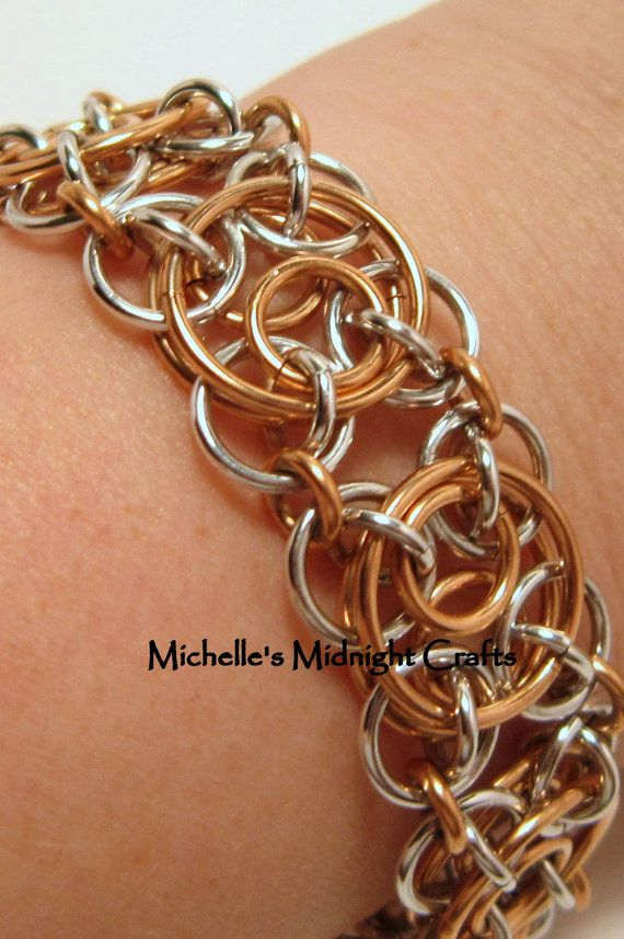 Clockwork Chainmaille Bracelet by Michello454 on Etsy