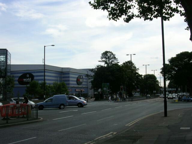Kingsway in East Didsbury, at the junction with Parrs Wood Lane and Wilmslow Road.