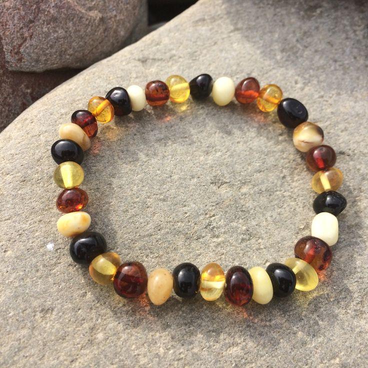 Bracelet ambre naturel de la Baltique pour femme #ambre #bracelet #bijou #baltique