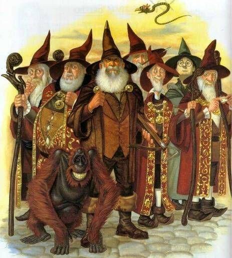 Terry Pratchett's Discworld series wizards