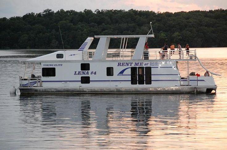 Bull Shoals Lake Arkansas - Houseboats Rentals pictured 60'Elite Houseboat, sleeps 14 with 2 full bathrooms.