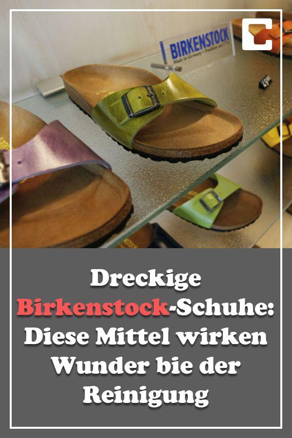 Dreckige Birkenstock Schuhe: So reinigen Sie das Fußbett