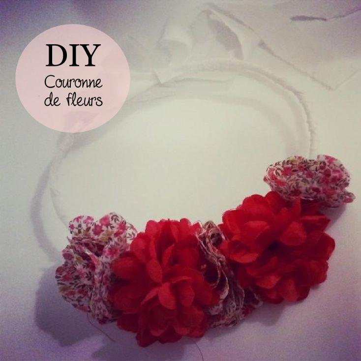 couronne-de-fleurs, diy flowers crown, diy couronne de fleurs en tissu