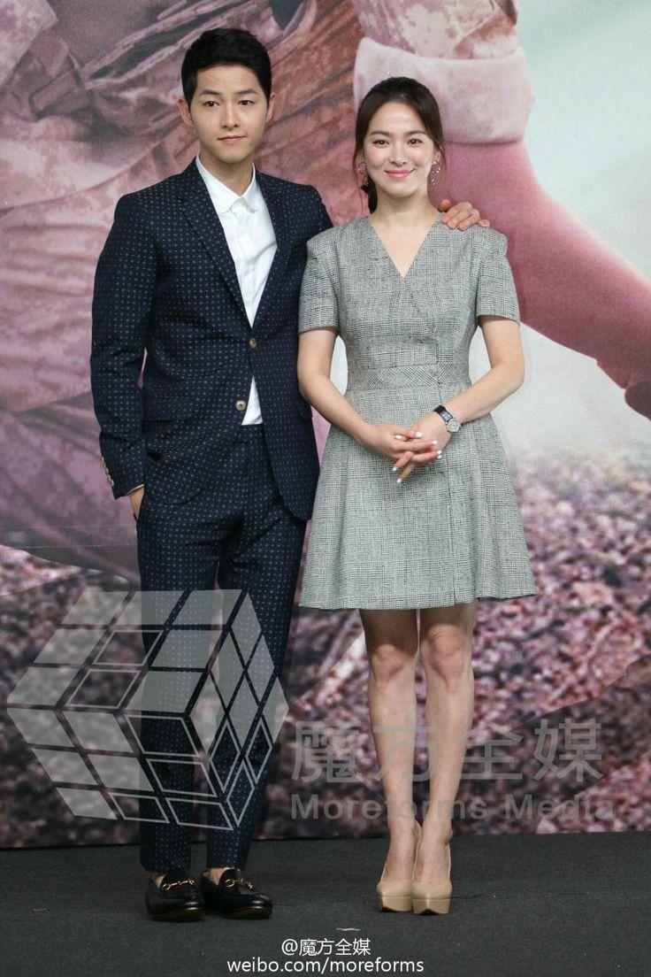 "Song Joong Ki & Song Hye Kyo | ""Descendants of the Sun"" Press Conference in Hong Kong"