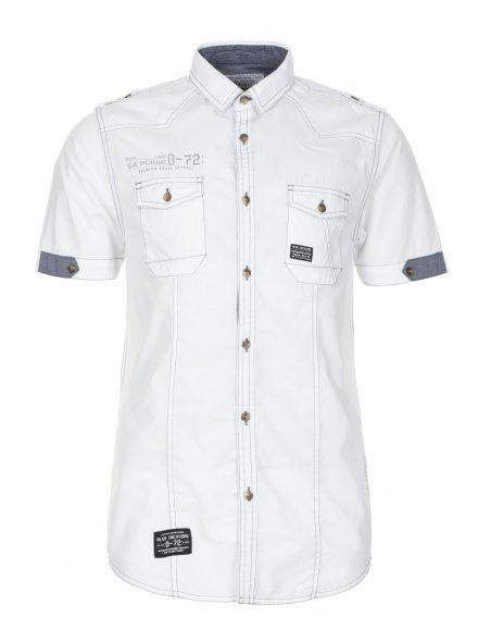 Industrialize Mens White Tech Short Sleeve Shirt