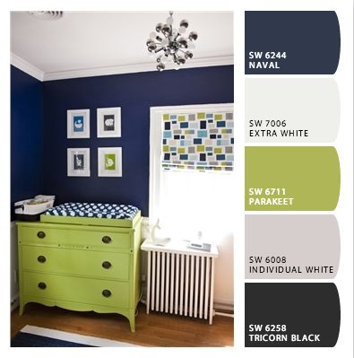 Adding navy to Ezra's room.. :D