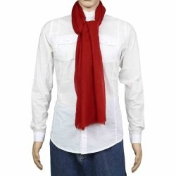 Red Scarf Cashmere Pashmina Accessories for Men Dresses From India