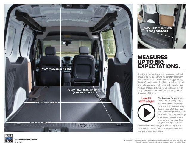 image result for ford transit connect interior dimensions transit pinterest ford transit. Black Bedroom Furniture Sets. Home Design Ideas