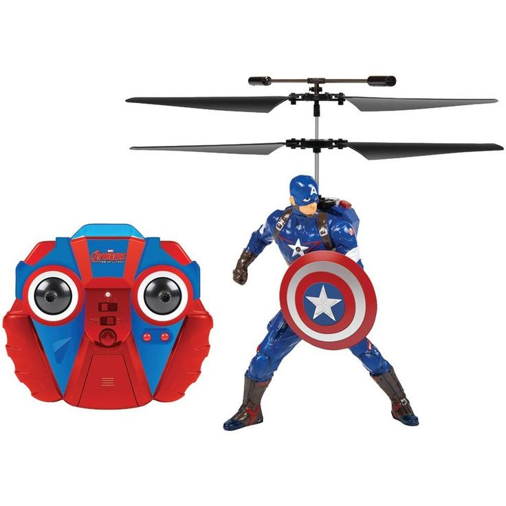 World Tech Toys 34871 2-Channel Marvel(R) IR Helicopter with Action Phrases (Captain America(R))
