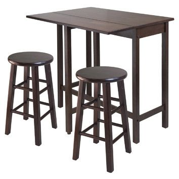 Winsome Winsome Lynnwood 3 Piece Counter Height Pub Table Set