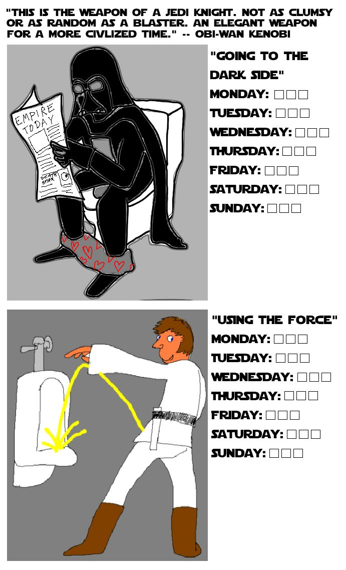 star wars potty chart
